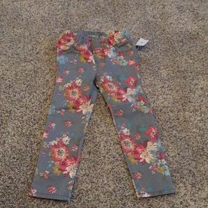 Gap Girls Floral Legging Jeans NWT Size 4T